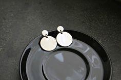 Earrings for sensitive ears 316L Stainless steel Surgical steel hexagon earrings gold plated