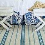 blue white striped rugs- furniture decor and accessories