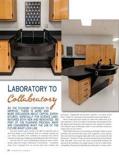 Laboratory to Collabratory, article posted in Christian School Products- November 2015 issue.