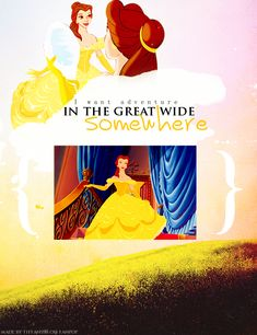 "30 Day Disney Princess Challenge. Day 6- Prettiest Princess: Belle. Now all the princesses are beautiful, there's no denying it. But for me, Belle just seemed to look pretty in anything she wore throughout the movie. Simple, but pretty. She's beautiful inside and out (as all the princesses are), but she's the one who saw the beauty in others, looking past their appearance and seeing them for who they truly. ""For who could ever learn to love a beast?"" Belle did."