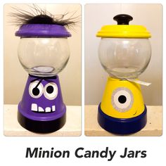 Minion Candy Jars