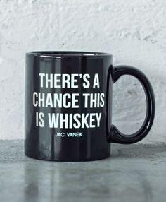 whiskey black mug