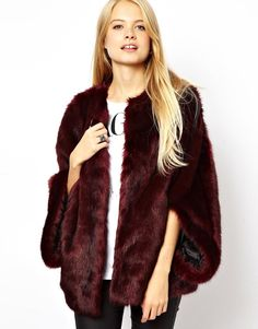 ASOS | ASOS Faux Fur Batwing Coat at ASOS