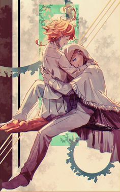 Norman x Emma The promised neverland - 54 Norman, Film Animation Japonais, Terra Do Nunca, Tamako Love Story, Shingeki No Bahamut, Anime Lindo, Film D'animation, Fan Art, Animes Wallpapers