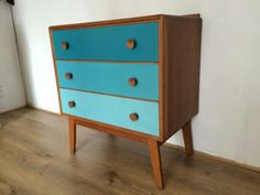 Retro Meredew Teak Chest of Drawers 60's 70's Upcycle Painted Mid-century in Chests of Drawers   eBay