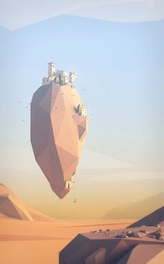 Low poly landscape #game #inspiration #lowpoly