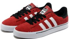 Adidas Originals Campus Vulc Low Suede Boys Causal Shoes G48532 Red White Black.jpg (750×426)