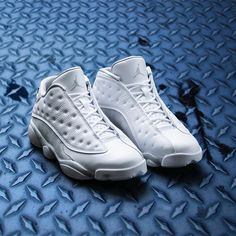 The Air Jordan Retro 13 Low 'Pure Platinum' drops next week 5/20 at Jimmy Jazz