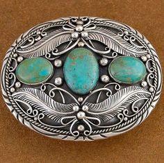 Genuine-Turquoise-Sterling-Silver-Belt-Buckle-by-Verna-Blackgoat