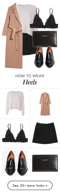 """Untitled #5665"" by laurenmboot on Polyvore featuring Monki, Acne Studios, Yves Saint Laurent, Jeffrey Campbell and Topshop"