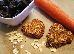 Carrot Cake Cookies - paleo friendly minus the oats. Could sub with pumpkin seeds & shredded coconut for a similar texture.