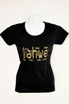 Koszulka Damska JAHWE (czarno-złota)