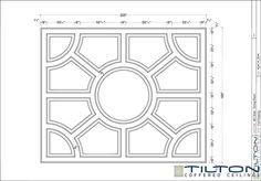 Coffered Ceiling Design Drawing - Bespoke 40