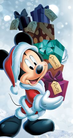 Mickey Mouse Pictures, Mickey Mouse Cartoon, Mickey Mouse And Friends, Mickey Minnie Mouse, Mickey Christmas, Christmas Cartoons, Christmas Art, Goofy Disney, Disney Cartoon Characters
