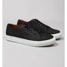 Garment Project Black Classic Lace Nubuck Leather Trainers: Masters of Scandi sneakers, Garment project have come up with this effortless low-top design with tonal stitching and stitch and turn on toe cap that should be a staple of every collection. It is an update of a timeless design that you can't go wrong with fitting into any look.