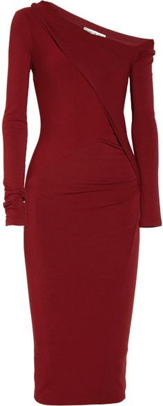 Modern Icons Asymmetric Stretch jersey Dress - Donna Karan