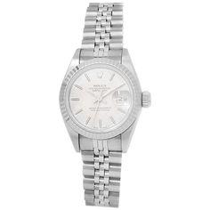 White Bustier, Rolex Women, Knit Leggings, Rolex Datejust, 1 Year, Clocks, Rolex Watches, Stainless Steel, Silver