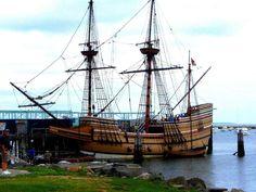 The Mayflower in Plymouth, Massachusetts