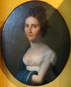 Huile Sur Toile Fin XVIIIème Début XIXème Portrait De Femme Toile d'Origine , Thomas Chabolle Antiquités, Proantic