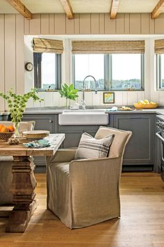 Open Up the Floor Plan - 50 Best Small Space Decorating Tricks We Learned in 2016 - Southernliving. This cramped kitchen doubled in size when the owners took out the wall separating the breakfast room and kitchen. The open floor plan makes the whole area feel more spacious.
