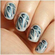Colour Alike 490 Drachetka + The Face Shop Face It BR801 + acrylic paint #nails #nailart