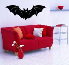 Wall Decals Vinyl Decal Sticker Art Murals Decor Halloween Animals Bat Kj968 #MuralArtDecals