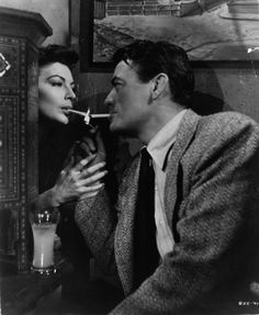 Ava Gardner and Gregory Peck.