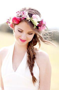 Bridal Floral Hair Wreath