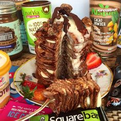 It's #WheyheyWednesday  Time for possibly the most mouth watering creation yet... Check out this Banana & Chocolate Pancake Stack by our lovely @mindfullymoni  Recipe on our blog & Twitter  #MindfullyMade #EatClean #CheatClean #Wheyhey #Protein #ProteinIceCream #IceCream #SugarFree #GlutenFree #GetInvolved #Health #FitFam #Healthy #Diet #Gym #Training #Exercise #Vanilla #Strawberry #Chocolate #Banoffee #Smoothies #Sun #Summer #FoodPorn #PicOfTheDay #Instafood #Instalike #Instalove