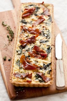 Chard, Goat Cheese and Prosciutto Tart | Tartelette #glutenfree