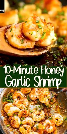 Shrimp Recipes For Dinner, Shrimp Recipes Easy, Seafood Dinner, Sauted Shrimp Recipes, Health Shrimp Recipes, Garlic Honey Shrimp, Marinated Shrimp, Prawn Recipes, Delicious Dinner Recipes