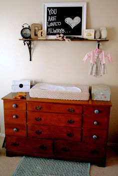 I need to make that exact chalk board for H! And maybe put a shelf up too!