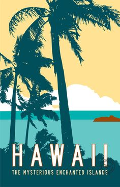 Hawaii Travel Poster Art Print