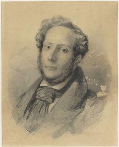 Johann Wilhelm Kaiser (I) | Zelfportret van Johann Wilhelm Kaiser (I), Johann Wilhelm Kaiser (I), c. 1830 - c. 1850 |