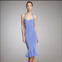 Zac Posen Periwinkle Blue Silk Halter Dress Zac Posen Fabulous Periwinkle Blue Silk Halter Dress!  Gorgeous Silk / Elastane  with Superb Detailing!  Padded Hidden Back Zipper And Sweetheart Neckline!  Sold out in Stores and on line! Zac Posen Dresses Midi