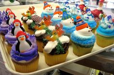 Holiday cupcakes - Mueller's Bakery!