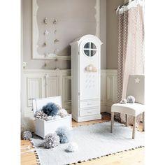 Coffre à jouets blanc petit modèle Pastel - maisons du monde