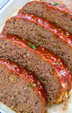 The Best Meatloaf Recipe Classic Meatloaf With Ketchup Glaze. Meatloaf With Oatmeal This Is Not Diet Food. Barbecue Meat Loaf MrFood Com. Venison Meatloaf Recipe, Meatloaf Recipe Video, Chicken Meatloaf, Homemade Meatloaf, Classic Meatloaf Recipe, Meat Loaf Recipe Easy, Best Meatloaf, Meatloaf Recipes, Meat Recipes