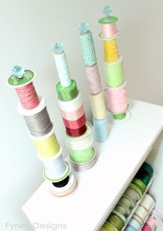 Ribbon Storage Rack - I had already thought about doing this, now I have pic so hubby can have a visual