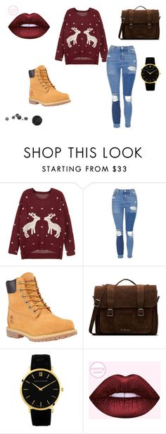 """Winter is coming"" by nickey-mouse on Polyvore featuring WithChic, Topshop, Timberland and Dr. Martens"