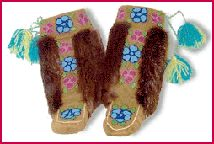 Dene mukluks with beading