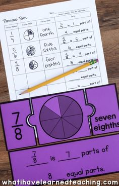 Engage students with a variety of Fraction Number Puzzles that provide practice with equivalent fractions, comparing fractions, and placing fractions on a number line. These are great for math stations or math centers. Comparing Fractions, Teaching Fractions, Math Fractions, Equivalent Fractions, Teaching Math, Dividing Fractions, Multiplication, Teaching Tools, Fraction Activities