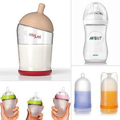 The Best Bottles For Breastfed Babies -- we liked the Tommee Tippee. I figure the more it looks like a boob, the easier the transition between bottle and breast.