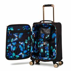 65dbb089fb41dc Luggage Ted Baker Albany Collection TBW5003 4 Wheel Cabin Case Black Rose  Gold Lightweight Suitcase