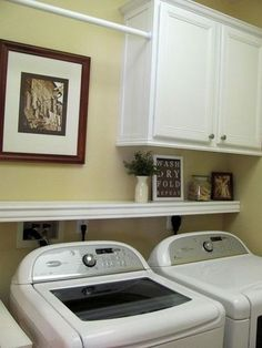A small laundry room can be a challenge to keep laundry room cabinets functional, yet since this laundry room organization space is constantly in use, we have some inspiring design laundry room ideas. Laundry Room Remodel, Laundry Room Cabinets, Laundry Room Organization, Diy Cabinets, Laundry Storage, Laundry Shelves, Laundry Drying, Clothes Storage, Bath Remodel