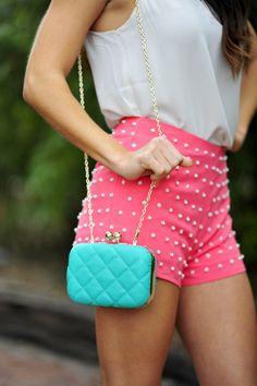 ♛ ℘opular ℘rincess | pearl-studded shorts