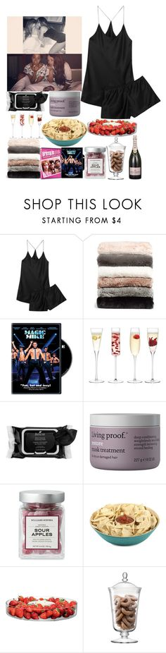 """Girls Night With Little Mix"" by kennedey-lynn-freeman ❤ liked on Polyvore featuring Olivia von Halle, Nordstrom, LSA International, Boscia, Living Proof and Core Home"