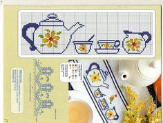 Cross Stitch Kitchen, Cross Stitch Patterns, Cross Stitch Boarders, Cross Stitching, Cross Stitch Embroidery, Alpha Patterns, Plastic Canvas Ornaments, Sewing Station, Embroidery Monogram