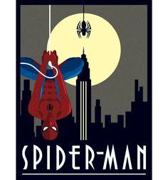 Marvel Comics Spiderman Deco Canvas Print 30 x 40cm Jolt Creative #officiallyawesome
