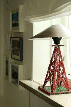 Meccano lamp by Chez Larsson